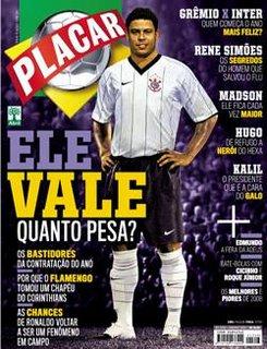 Capa da revista Placar de Janeiro 2009